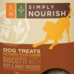 RECALL ALERT: Simply Nourish Biscotti Treats Sold at PetSmart