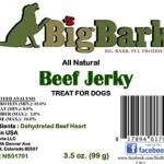 RECALL ALERT: Big Bark All Natural Beef Jerky Treats