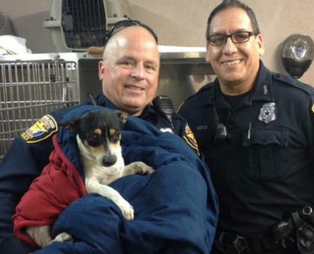 fort worth police stop traffic to save dog
