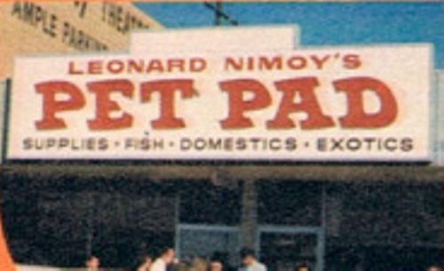leonard nimoy pet pad sign