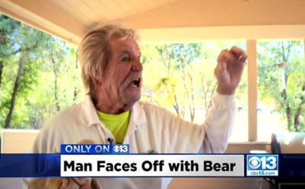 carl moore punched bear in face to save dog