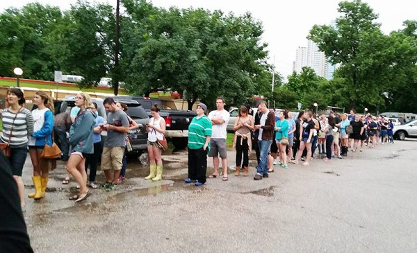 line to help Austin Pets Alive after flood