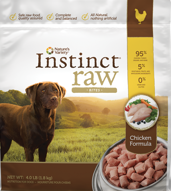 RECALL ALERT: Instinct Raw Chicken Formula Bites and Patties