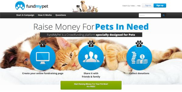 FundMyPet only pet crowdfunding site
