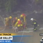Man and Dog Rescued from Tree above Raging L.A. River [Video]