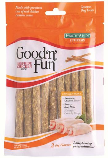Good 'n' Fun Chicken Sticks recall package