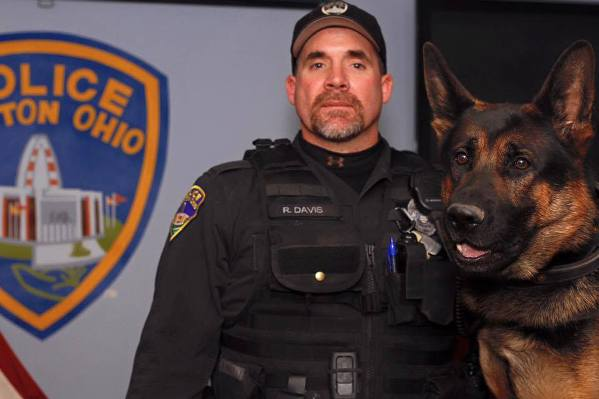 Jethro K9 officer and Ryan Davis