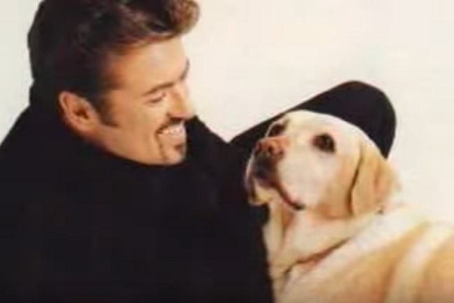 George Michael and dog