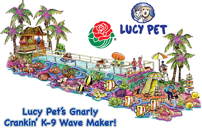 Lucy Pet 2017 Rose Parade flost